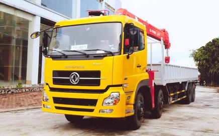 Xe tải gắn cẩu tự hành 12 tấn